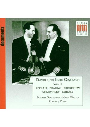 David And Igor Oistrakh - Werke Von Brahms, Kodaly, Leclair, Prokofiev And Stravinsky