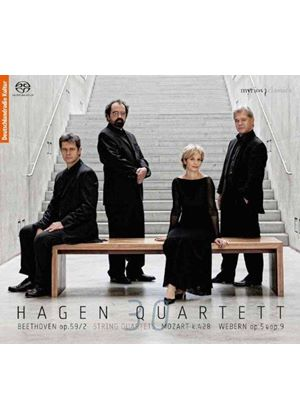Beethoven, Mozart & Webern: String Quartets (Music CD)