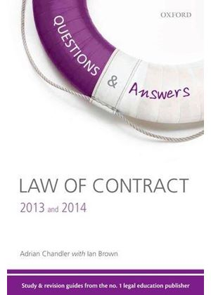 Q & A Revision Guide Law Of Contract 2013 And 2014