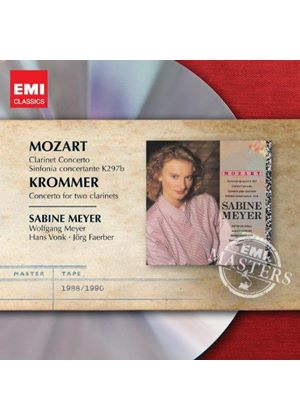 Mozart: Clarinet Concerto; Sinfonia Concertante K297b; Krommer; Concerto for Two Clarinets (Music CD)