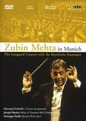 Zubin Mehta In Munich - The Inaugural Concert With the Bayerische Staatsoper