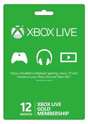 Xbox Live 12 month Gold Membership Card (Xbox 360 + Xbox ONE)
