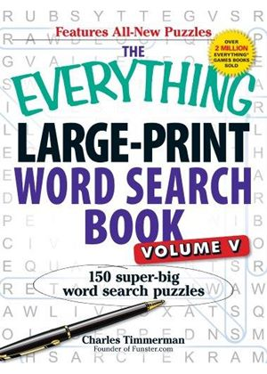 Everything Large-Print Word Search Book