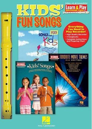 Kids Fun Songs Learn & Play Recorder Pack Recorder/3books Rec