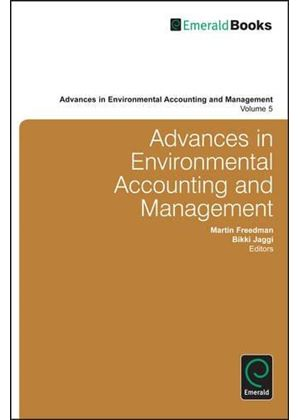 Advances In Environmental Accounting And Management
