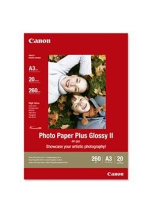 Canon Photo Paper Plus II PP-201 - Glossy photo paper - A3 (297 x 420 mm) - 20 sheet(s)