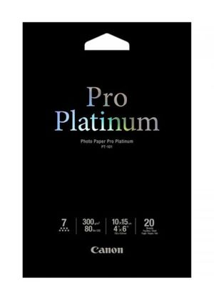 Canon Photo Paper Pro Platinum - Photo paper - 100 x 150 mm - 300 g/m2 - 20 sheet(s)