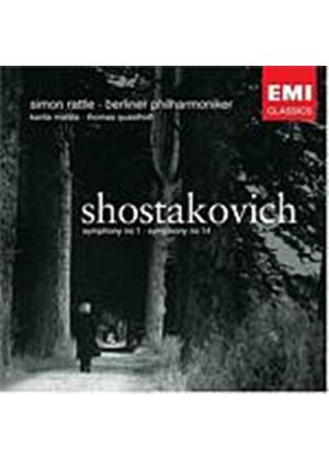 Dmitri Shostakovich - Symphonies Nos. 1 And 14 (Rattle) (Music CD)