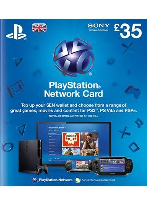 PlayStation Network Card - £35 (PS3 + PS4)