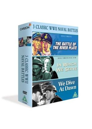3 Classic World War 2 Naval Battles - The Battle Of The River Plate / In Which We Serve / We Dive At Dawn
