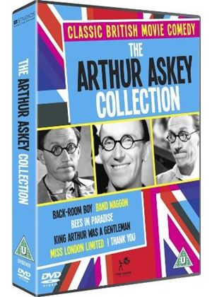 Arthur Askey Collection:BACK ROOM BOY/ BAND WAGGON/ BEES IN PARADISE/KING ARTHUR WAS A GENTLEMAN/ MISS LONDON LTD/ I THANK YOU.