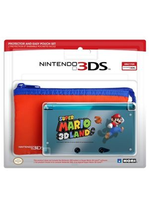 Hori Officially Licensed Super Mario 3D Land Protector And Easy Pouch Set (Nintendo 3DS)
