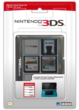 Hori Officially Licensed 3DS Game Card Case 24 (Black) (Nintendo 3DS/DSi/DSL)