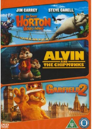 Family Animation Triple: Horton Hears A Who / Alvin And The Chipmunks / Garfield 2: A Tail Of Two Kitties