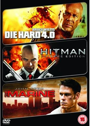 Action Packed Triple - Die Hard 4.0 / Hitman: Extreme Edition / The Marine