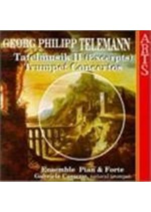 Georg Philipp Telemann - Tafelmusik II (Excerpts), Trumpet Concertos (Cassone) (Music CD)