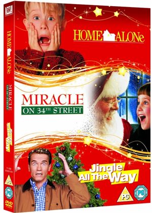 Family Christmas Triple: (Home Alone, Jingle All The Way, Miracle on 34th Street)