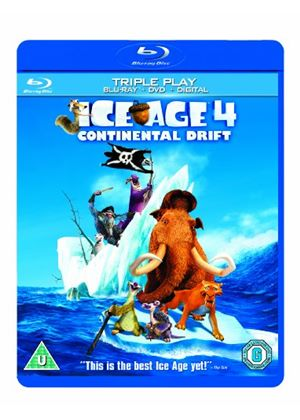Ice Age 4: Continental Drift - Triple Play (Blu-ray + DVD)