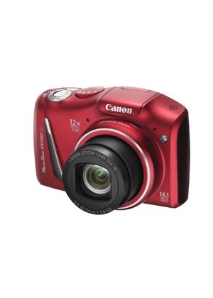 Canon PowerShot SX150 IS Digital Camera - Red (14.1 MP, 12x Optical Zoom) 3.0 inch LCD with Wide Viewing Angle