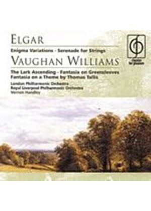 Elgar/Vaughan-Williams - Enigma Variations, Lark Ascending (Lpo, Rlpo, Handley) (Music CD)