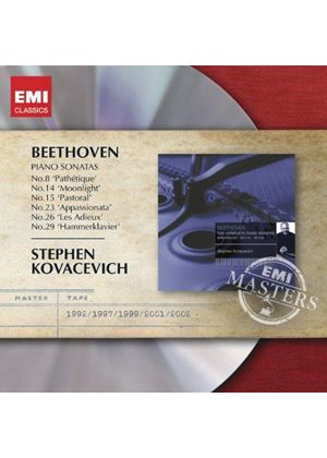 Beethoven: Piano Sonatas Nos. 8, 14, 15, 23, 26 & 29 (Music CD)