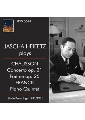 Jascha Heifetz plays Chausson & Franck (Music CD)