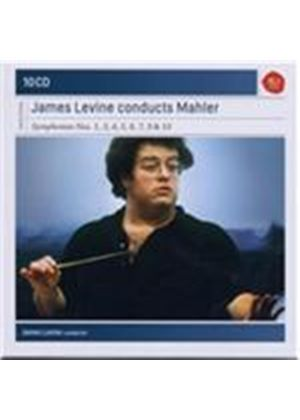 James Levine Conducts Mahler: Symphonies nos. 1, 3, 4, 5, 6, 7, 9 & 10 (Music CD)