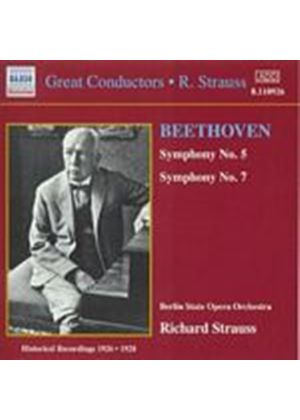 Ludwig Van Beethoven - Symphonies Nos 5 & 7 (Berlin State Op Or, Strauss) (Music CD)
