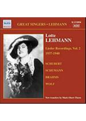 Schubert/Schumann/Brahms/Wolf - Lieder Recordings - Vol. 2 (Lehmann) (Music CD)