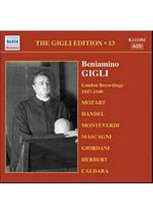 Beniamino Gigli - The Gigli Edition - Vol. 13: London Recordings 1947 - 1949 (Music CD)