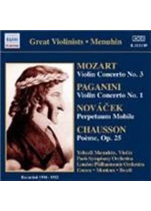 Chausson; Mozart; Paganini: Works for Violin and Orchestra