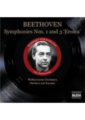 Beethoven: Symphonies Nos 1 and 3 (Music CD)
