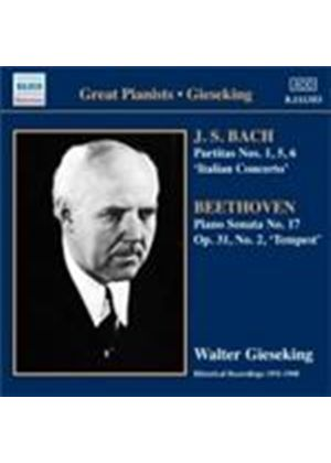 Gieseking plays Bach and Beethoven (Music CD)