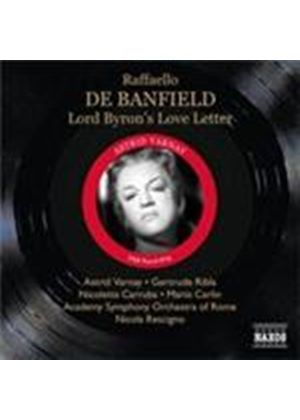 Banfield: Lord Byron's Love Letter (Music CD)