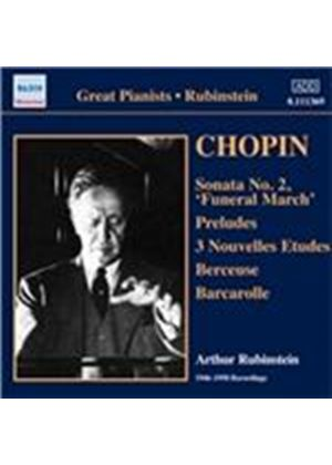 Chopin: Sonata No. 2 'Funeral March'; Preludes; 3 Nouvelles Etudes; Berceuse; Barcarolle (Music CD)