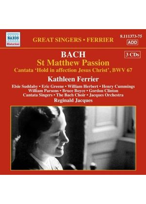 Bach: St. Matthew Passion (Music CD)