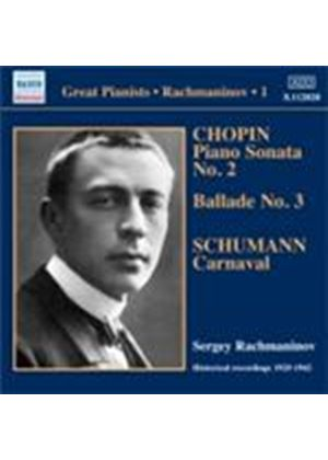 Chopin: Piano Sonata No 2; Schumann: Carnaval (Music CD)