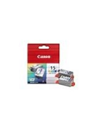 Canon BCI 15 Colour Twin Pack - Ink tank - 2 x color (cyan, magenta, yellow)