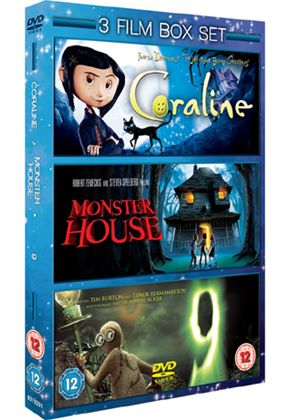 Coraline / Monster House / 9 (3 Film Set)