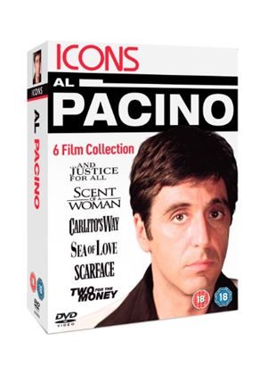 Icons: Al Pacino Collection (And Justice For All/ Scent Of A Woman/ Carlito's Way/ Sea Of Love/ Scarface/ Two For The Money)