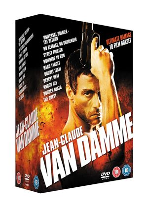 Jean-Claude Van Damme Collection (No Retreat, No Surrender/ Street Fighter/ Nowhere To Run/ Hard Target/ Double Team/ Desert Heat/ Universal Soldier - The Return/ Knock Off/ Sudden Death/ The Quest)