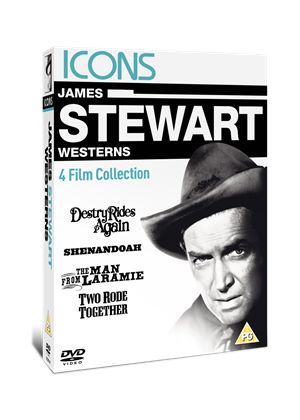 Icons: James Stewart Western Collection (Destry Rides Again 1939 / Shenandoah / The Man From Laramie / Two Rode Together)