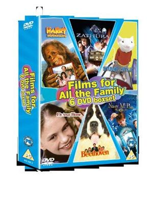 6 Film Box Set: Beethoven/ Fly Away Home/ Harry And The Hendersons/ Nanny Mcphee/ Stuart Little/ Zathura