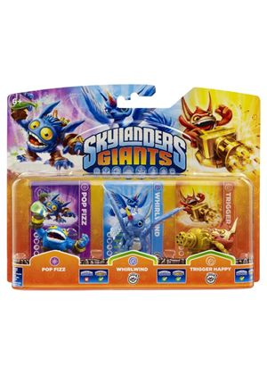Skylanders Giants Figures - Triple Pack A - Pop Fizz / Whirlwind / Trigger Happy (Wii/PS3/Xbox 360/PC)