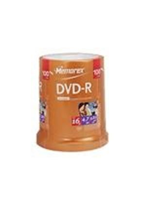 Memorex - 100 x DVD-R - 4.7 GB ( 120min ) 16x - spindle - storage media