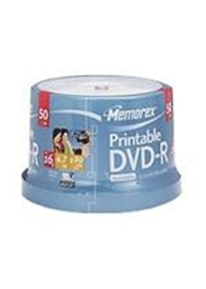 Memorex - 50 x DVD-R - 4.7 GB ( 120min ) 16x - ink jet printable surface - spindle - storage media
