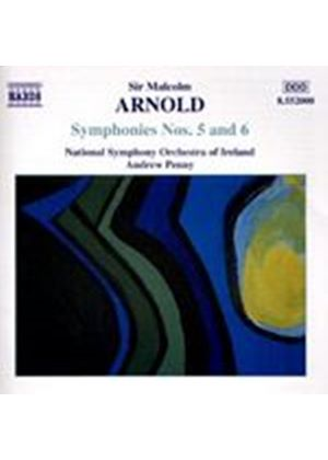 Malcolm Arnold - Symphonies 5 & 6 (NSO Ireland, Penny) (Music CD)