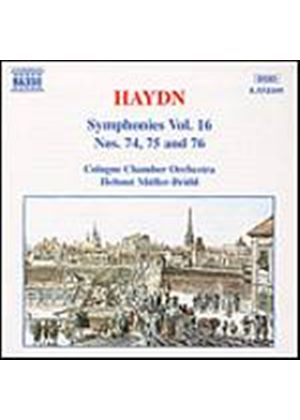Joseph Haydn - Symphonies Vol. 16: Nos. 74 - 76 (Muller-Bruhl, Cologne CO) (Music CD)