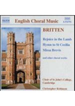 St. Johns College Choir/Robinson - Rejoice In The Lamb (St Johns) (Music CD)