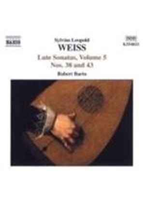 Silvius Leopold Weiss - Sonatas For Lute Vol. 5, Nos. 38 And 43 (Barto) (Music CD)